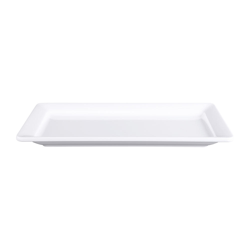 "Elite Global Solutions M137RC-W Rectangular Vogue Serving Platter - 13"" x 7"", Melamine, White"