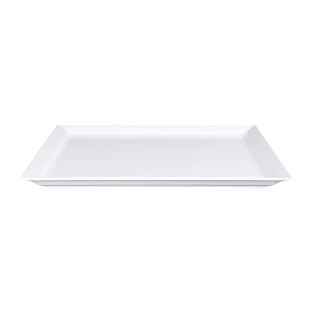 "Elite Global Solutions M1412-W Rectangular Vogue Platter - 14.75"" x 12.75"", Melamine, White"