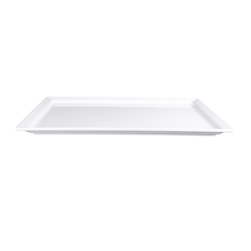 "Elite Global Solutions M1420-W Rectangular Vogue Serving Platter - 20"" x 14"", Melamine, White"
