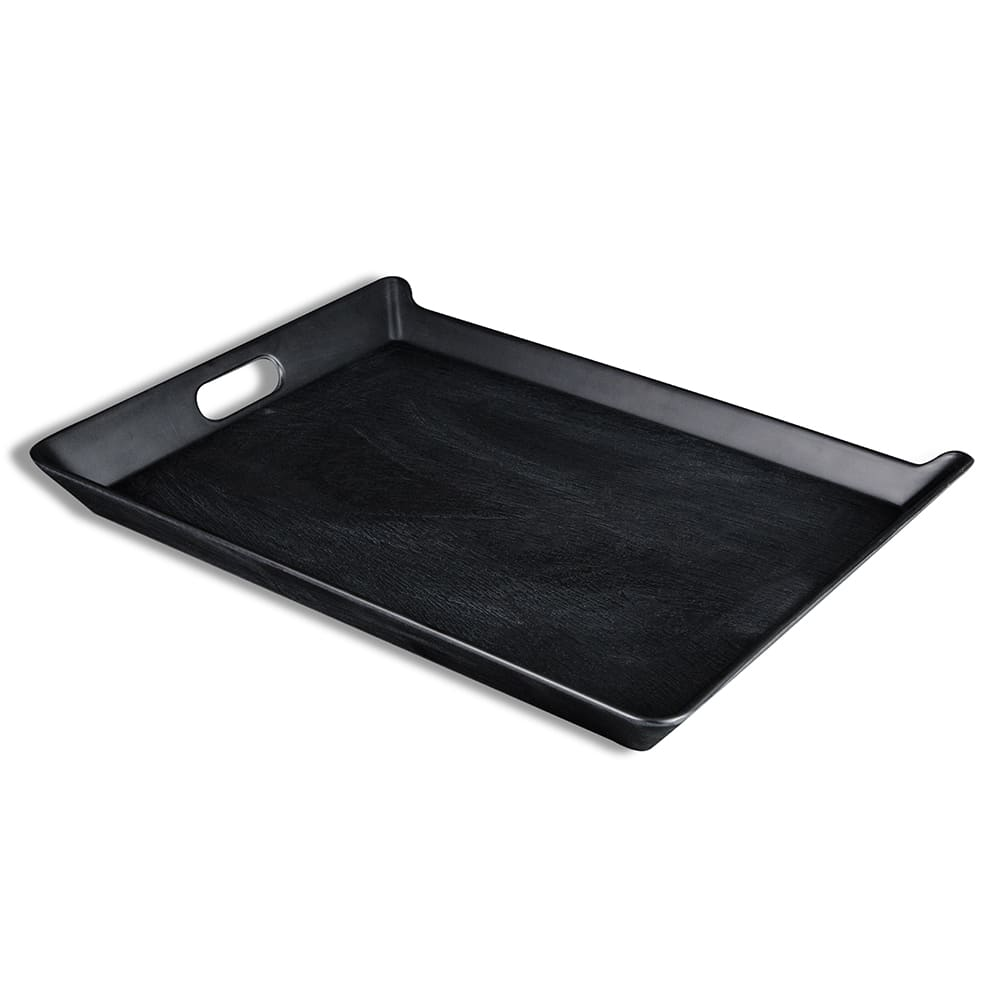 "Elite Global Solutions M15520T-B Rectangular Room Service Tray - 20"" x 15.5"", Melamine, Black"