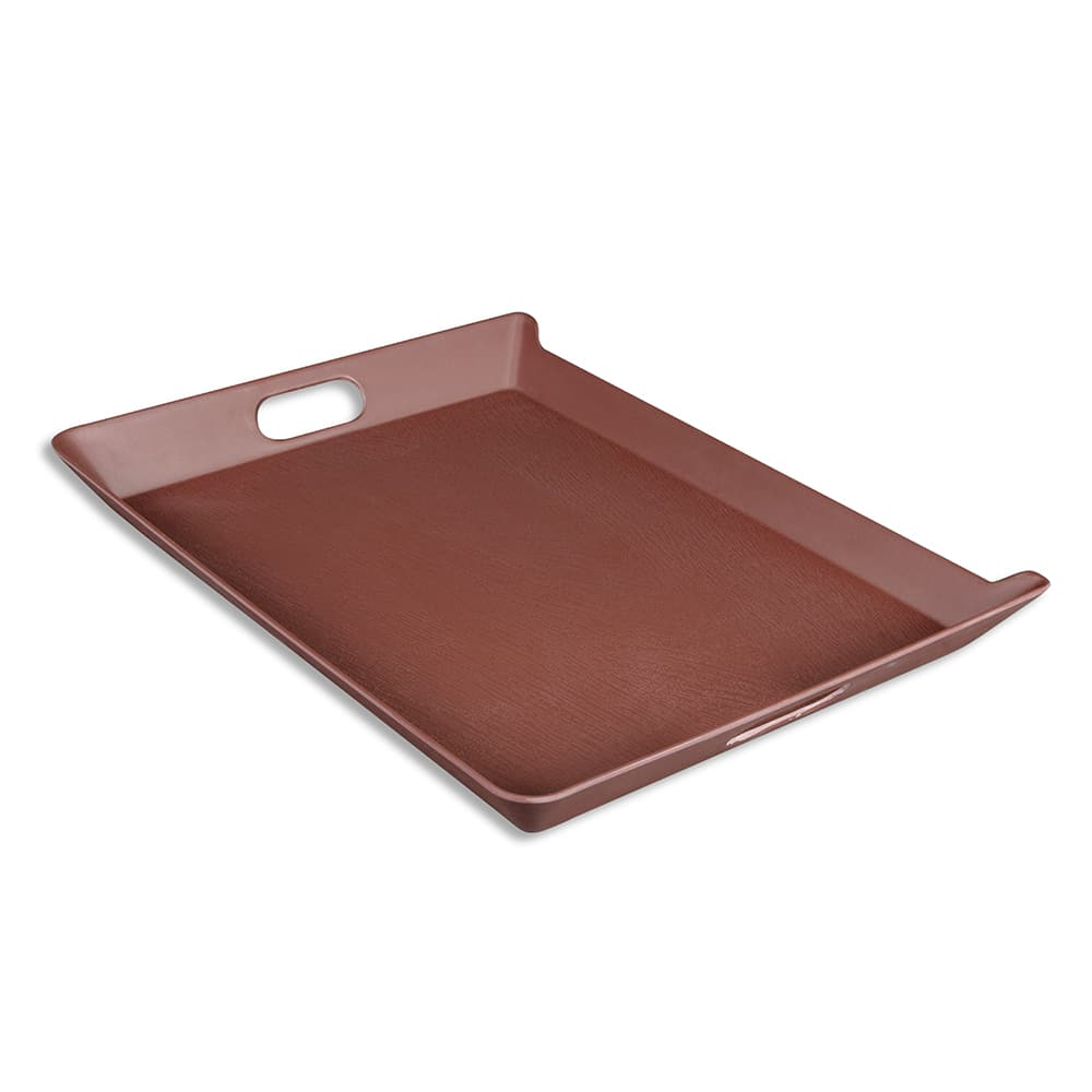 "Elite Global Solutions M15520T-MAH Rectangular Room Service Tray - 20"" x 15.5"", Melamine, Mahogany"