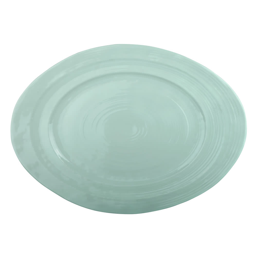 "Elite Global Solutions M16512OV-MG Oval Della Terra Serving Dish - 16.5"" x 12"", Melamine, Mint Green"