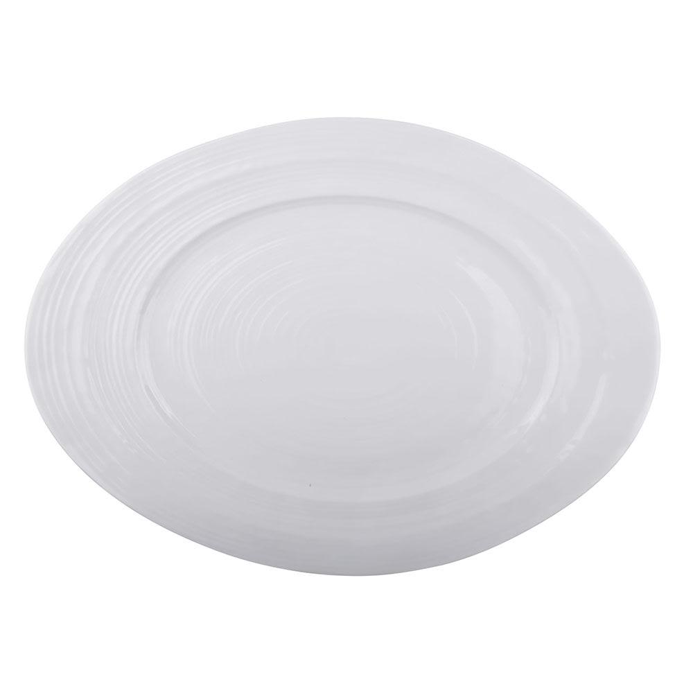 "Elite Global Solutions M16512OV-W Oval Della Terra Serving Dish - 16.5"" x 12"", Melamine, White"