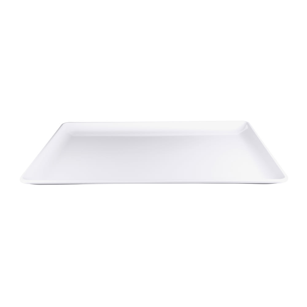 "Elite Global Solutions M2618RC-W Rectangular Serving Tray - 26"" x 18"", Melamine, White"