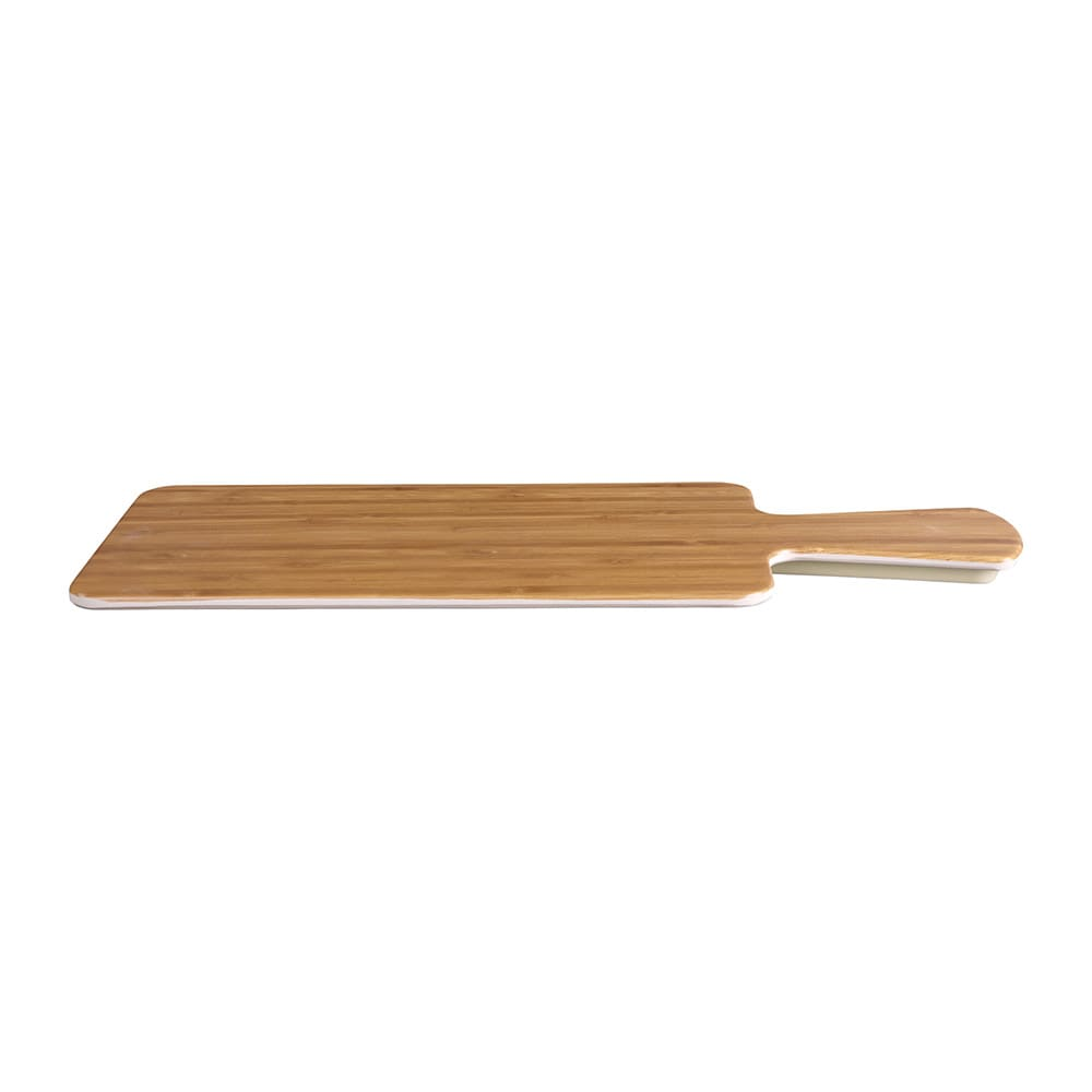 "Elite Global Solutions M510RC-BB Rectangular Serving Board - 10.5"" x 5.5"", Melamine, Faux Bamboo"