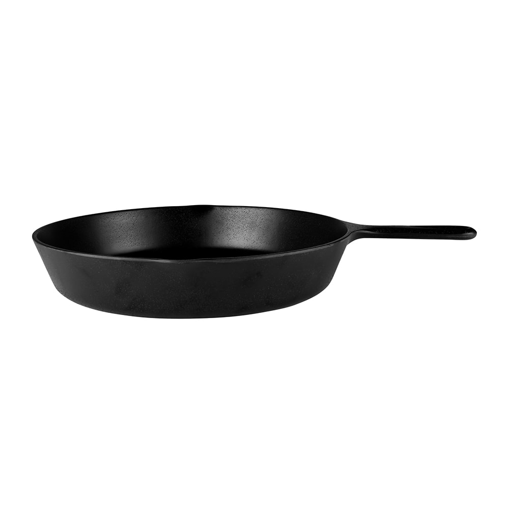 "Elite Global Solutions MFP14-B 12"" Illogical Faux Cast Iron Fry Pan w/ Handle - Melamine, Black"