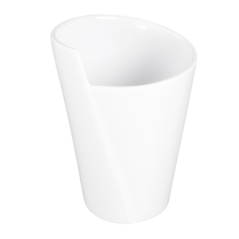 Elite Global Solutions MW64-W 64-oz Round Serving Crock - Melamine, White