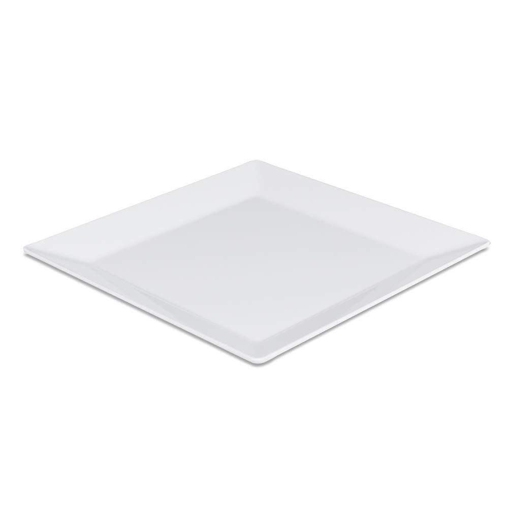 """Elite Global Solutions Q2-V145 14.5"""" Square Stratus Trays Serving Platter - Melamine, White"""