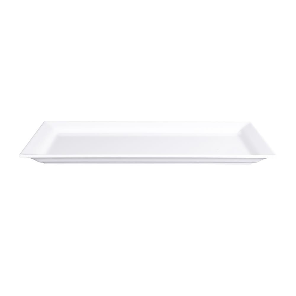 """Elite Global Solutions Q2-V147 Rectangular Vogue Serving Platter - 14"""" x 7"""", Melamine, White"""