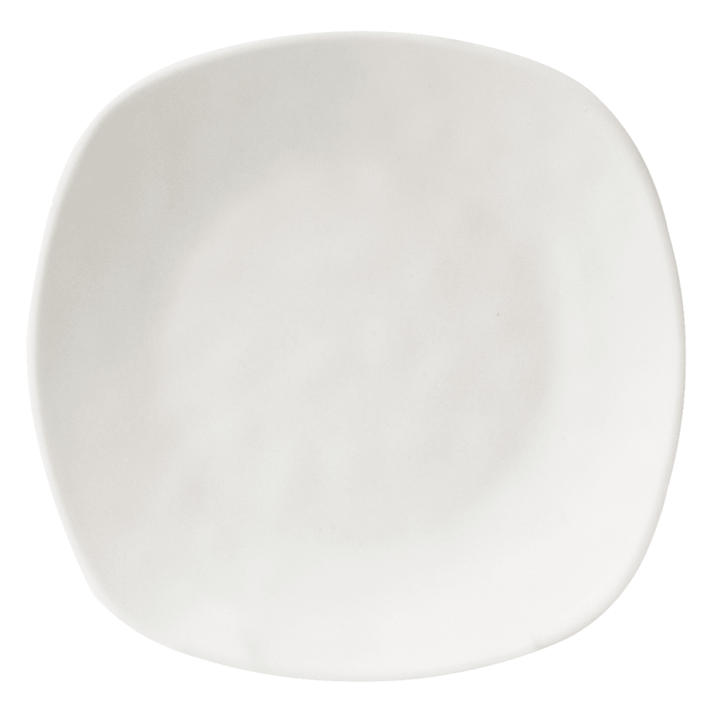 "Elite Global Solutions RT10SQ 10"" Square Tenaya Plate - Melamine, Off-White"