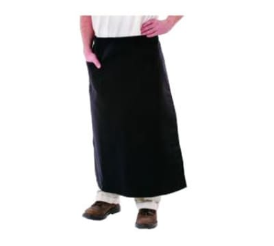 "Chef Revival 607PS1-BK Bistro Bar Apron, Polyspun, 30 x 34"", Side Pocket, Black"