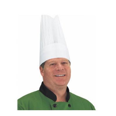 "Chef Revival CHR12-P Flair Chef Hat, Paper, Ventilation Holes, 12"", Adjustable, White"