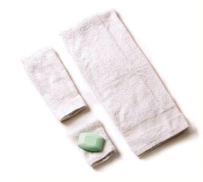 "Chef Revival HTI275W Cotton Bar Mop Towel, 16 x 27"", Narrow Ribbed"
