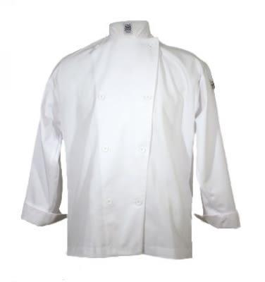 Chef Revival J001-L Poly Cotton Blend Chef Jacket, Nylon Knot, Large