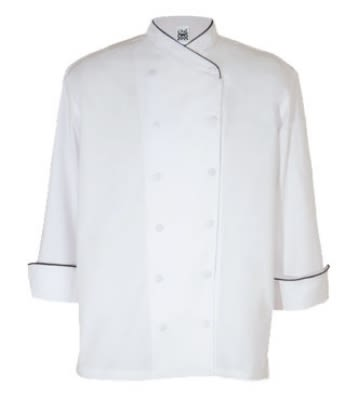 Chef Revival J008RD-S Corporate Chef Jacket, 12-Buttons, Cross-Collar, Pen Pocket, Red Piping, Small