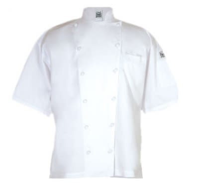 Chef Revival J057-L Luxury Cotton Cuisinier Chef Jacket, Short Sleeve, Large