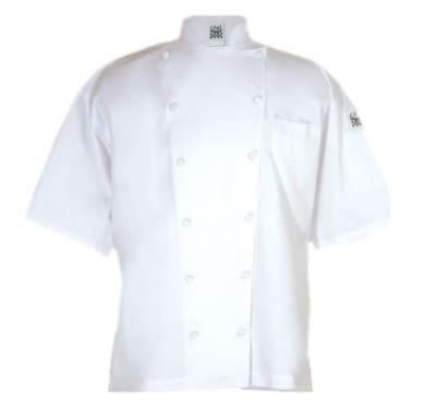 Chef Revival J057-M Luxury Cotton Cuisinier Chef Jacket, Short Sleeve, Medium