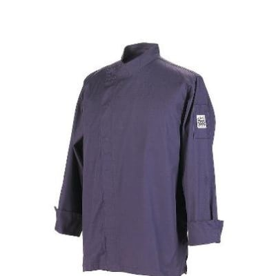 Chef Revival J113EPT-M Jacket w/ 3/4-Sleeves, Snap Button, Drop Shoulder, Back Yoke, Eggplant, Medium