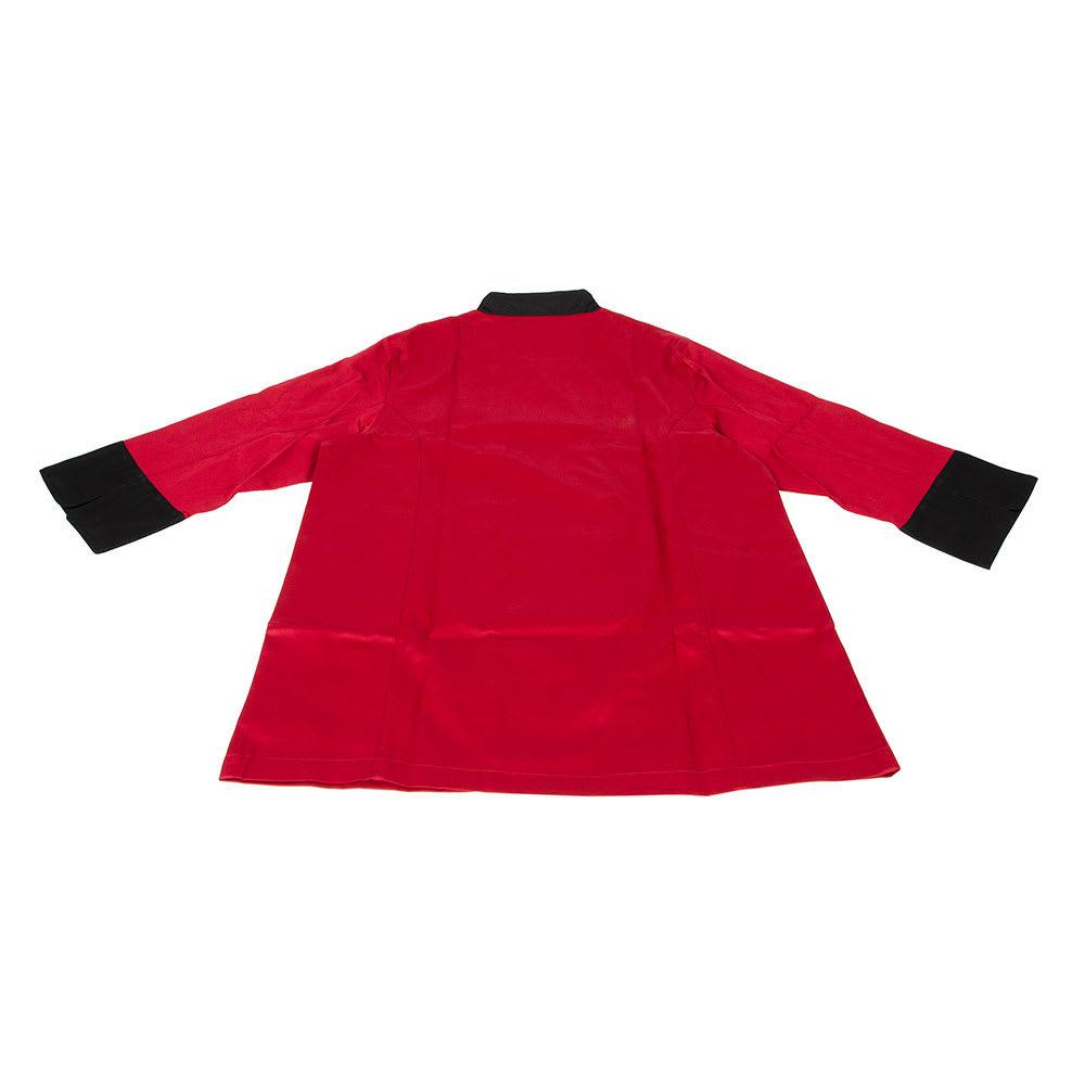 Chef Revival J134TM-3X Chef's Jacket Size 3X, 3/4 Sleeve, Tomato w/ Black Trim