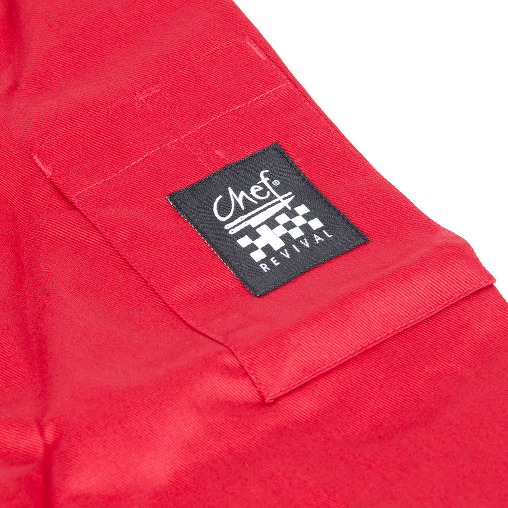 Chef Revival J134TM-M Chef's Jacket Size Medium, 3/4-Sleeve, Tomato w/ Black Trim