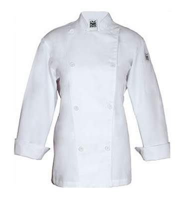 Chef Revival LJ028-5X Ladies Poly Cotton Traditional Chef Jacket, Cloth Knot, 5X