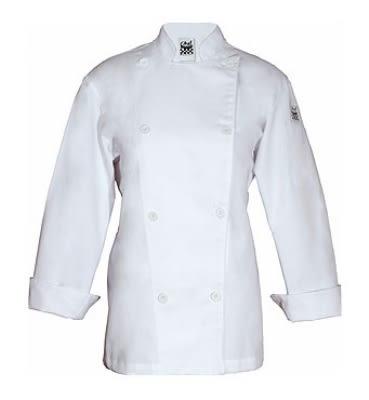 Chef Revival LJ028-M Ladies Poly Cotton Traditional Chef Jacket, Cloth Knot, Medium