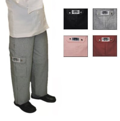 Chef Revival LP001HT-2X Ladies Cotton Cargo Chef Pants, 2X, Hounds Tooth