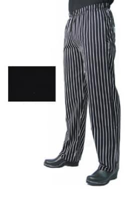 Chef Revival P014BK-L Poly Cotton Chef Pants, Slim Fit, Large, Black