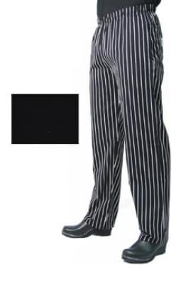 Chef Revival P014BK-XL Poly Cotton Chef Pants, Slim Fit, X-Large, Black