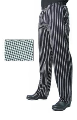 Chef Revival P015HT-S Poly Cotton Chef Pants, Slim Fit, Small, Hounds Tooth