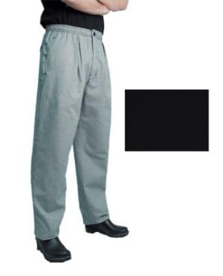 Chef Revival P017BK-L Poly Cotton Executive Chef Pants, Large, Black