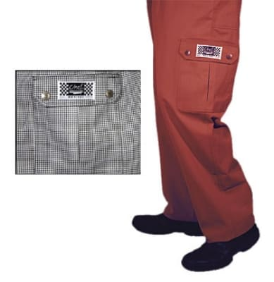 Chef Revival P023HT-5X Cotton Cargo Chef Pants, 5X, Hounds Tooth