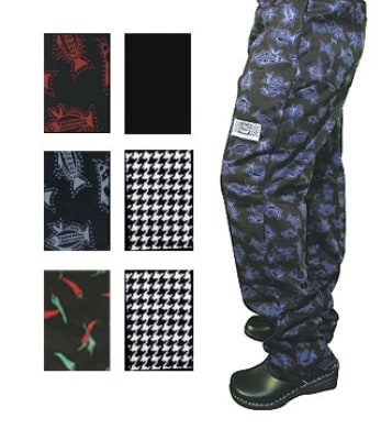 Chef Revival P040PP-4X Cotton Chef Pants, 4X, Pepper Print