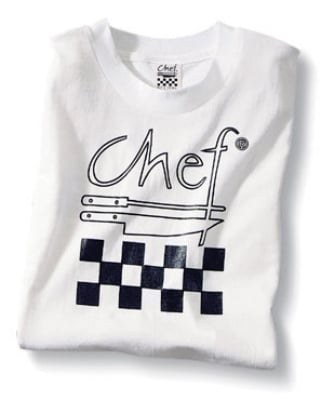 Chef Revival TS001-R Chef Revival T-Shirt w/ Logo, Cotton, White, Regular
