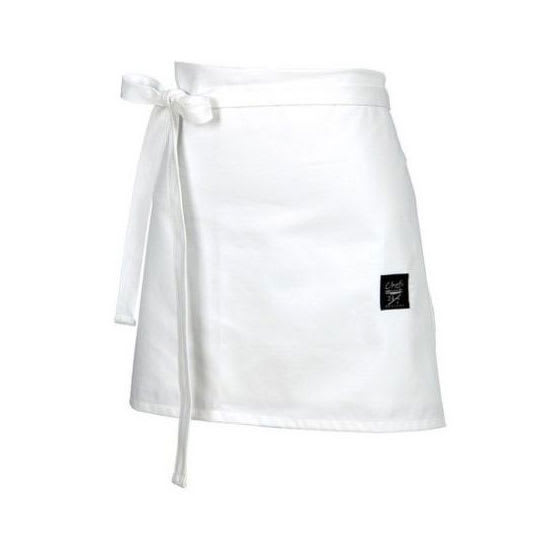 "Chef Revival 403FW 4-Way Waist Apron - 30"" x 16"", Poly/Cotton, White"