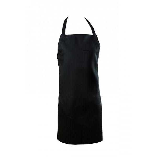 "Chef Revival 412BA-BK 1 Pocket Bib Apron w/ Adjustable Neck Strap - 29"" x 34"", Poly/Cotton, Black"