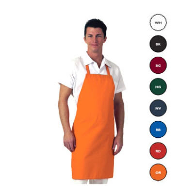 "Chef Revival 601NP-RD Bib Apron - 28"" x 34"", Twill, Red"
