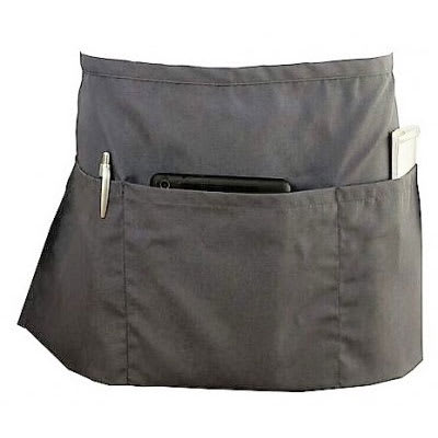 Chef Revival 605WAFH-GR 3 Pocket Waist Apron, Polly/Cotton, Pewter Grey