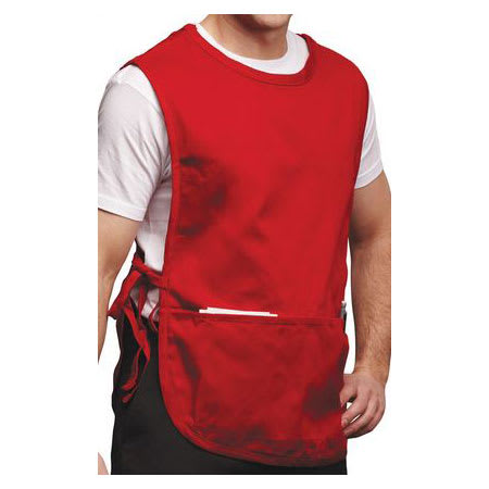 "Chef Revival 625CBA-RD 2-Pocket Cobbler Apron - 19"" x 28"", Poly/Cotton, Red"