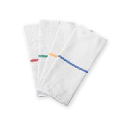 """Chef Revival 700BRT-RDS Bar Towel - 16x19"""" White with Red Stripe"""
