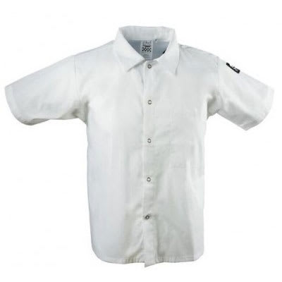 Chef Revival CS006WH-4X Chef's Shirt w/ Short Sleeves - Poly/Cotton, White, 4X