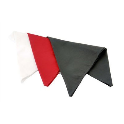 "Chef Revival H500BK 33"" Neckerchief - Poly/Cotton, Black"