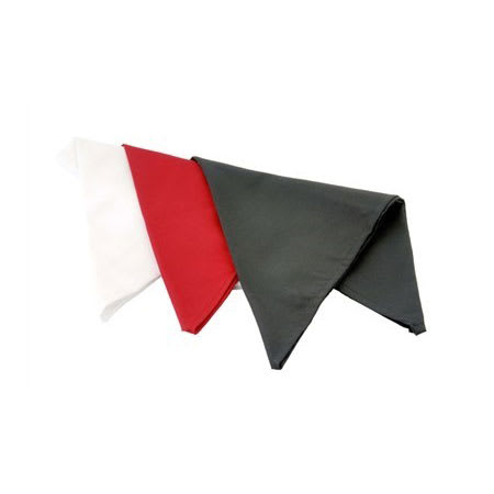 "Chef Revival H500RD 33"" Neckerchief - Poly/Cotton, Red"