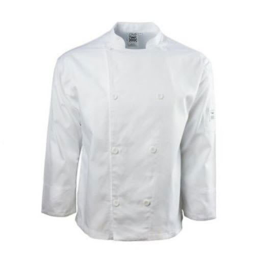 Chef Revival J002-6X Chef's Jacket w/ Long Sleeves - Poly/Cotton, White, 6X