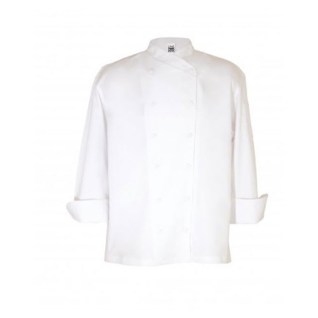 Chef Revival J006-M Chef's Jacket w/ Long Sleeves - Poly/Cotton, White, Medium