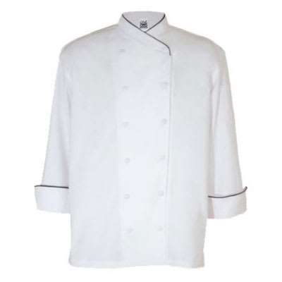 Chef Revival J008-L Chef's Jacket w/ Long Sleeves - Poly/Cotton, White, Large