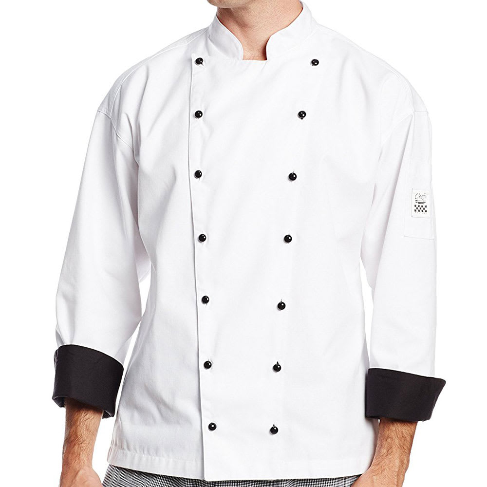Chef Revival J013-2X Chef's Jacket w/ Long Sleeves - Poly/Cotton, White, 2X