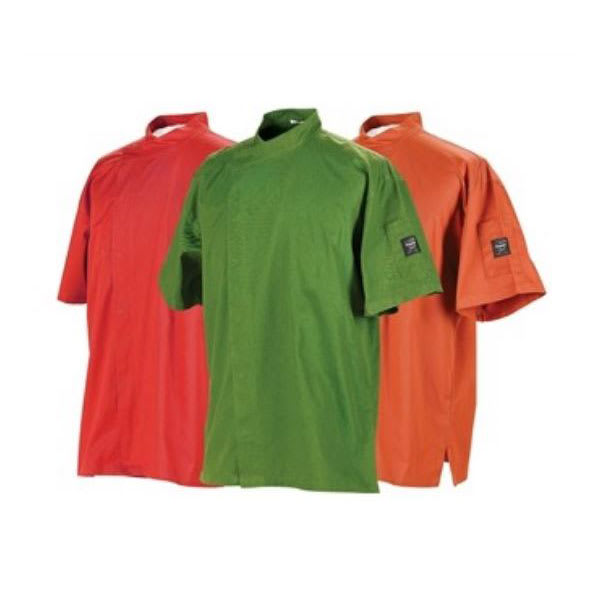Chef Revival J020MT-4X Chef's Jacket w/ Short Sleeves - Poly/Cotton, Mint Green, 4X