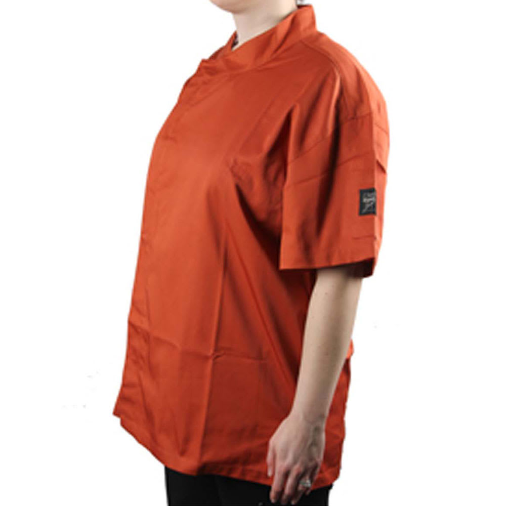 Chef Revival J020SP-2X Chef's Jacket w/ Short Sleeves - Poly/Cotton, Spice, 2X