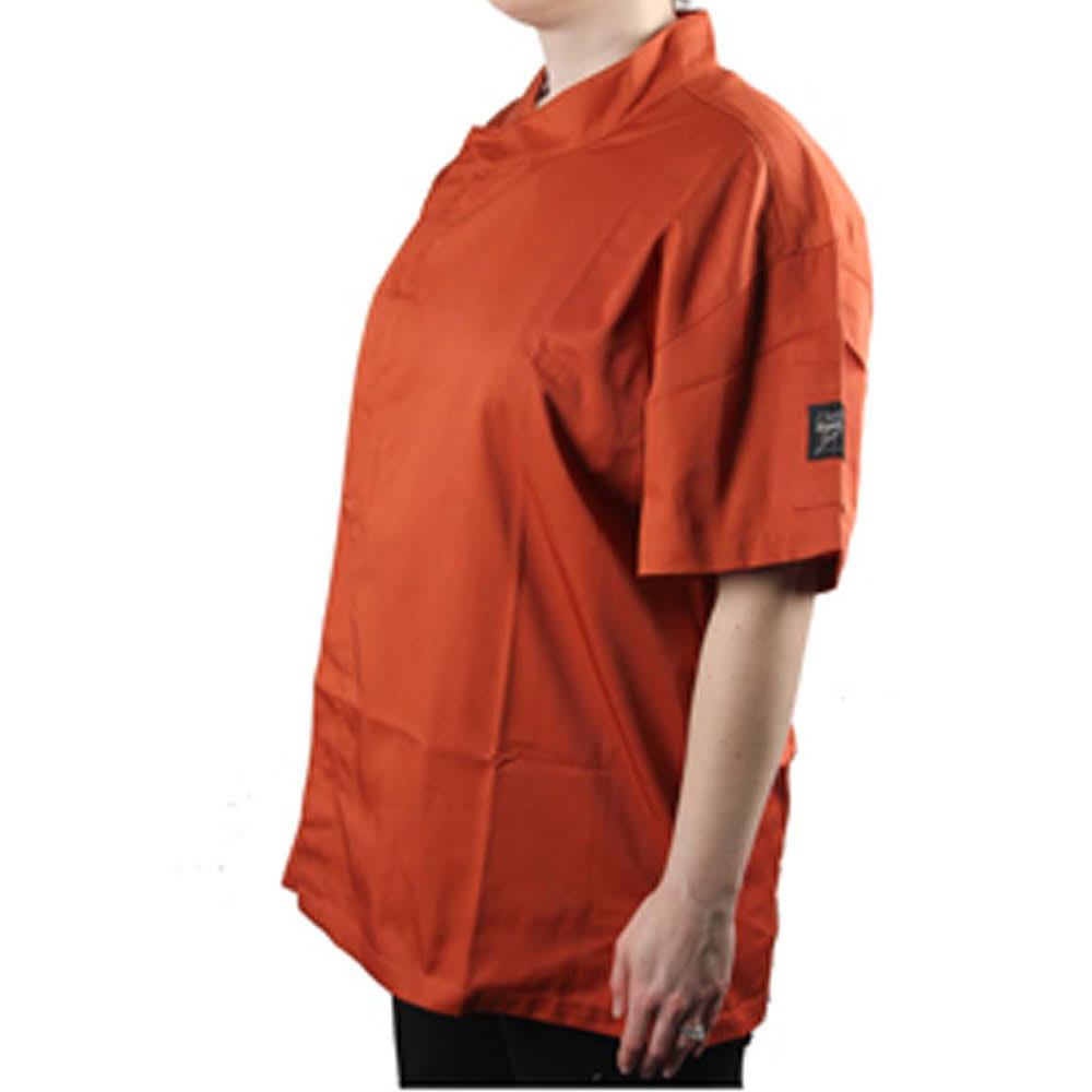 Chef Revival J020SP-S Chef's Jacket w/ Short Sleeves - Poly/Cotton, Spice, Small